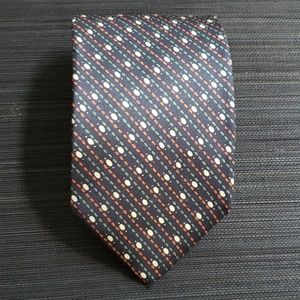 True VTG YSL Tie, black/geometric pattern